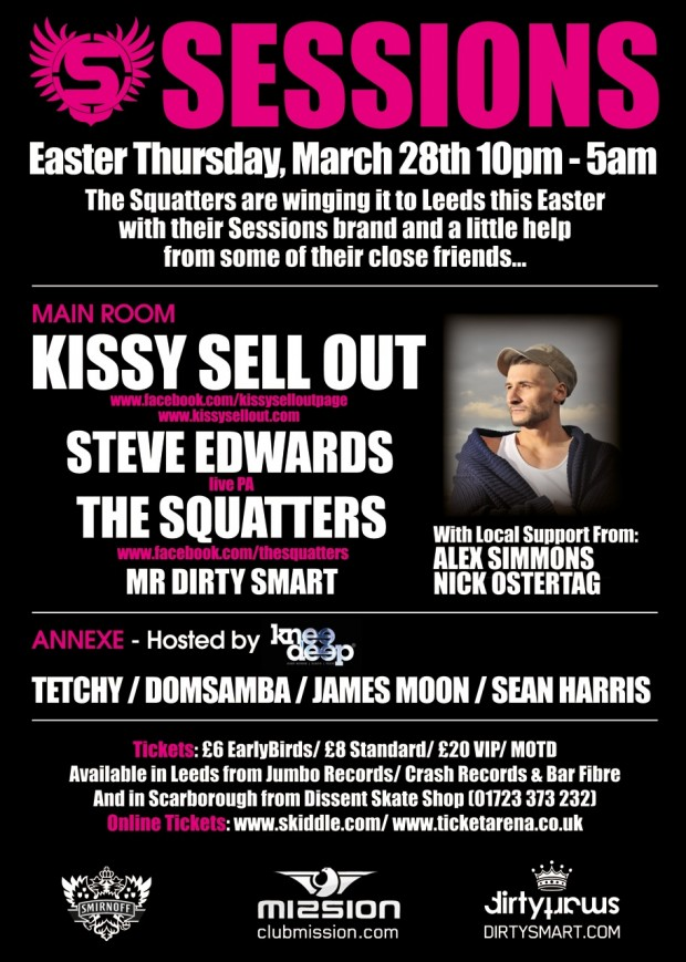 Sessions Leeds Flyer 28th March 2013 - EDMupdate